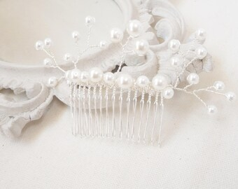 """Jewel of romantic bridal hair comb customizable wedding beads""Madeline"""""