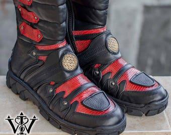 Leather Fetish Boots Etsy