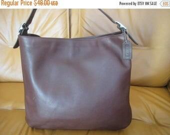 20% SUMMER SALE Genuine vintage COACH brown leather shoulder bag purse