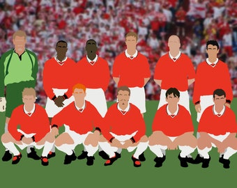 Man Utd Campions League Winners 1999