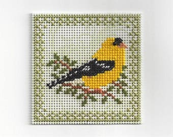 Birds of the Air - Goldfinch- Counted Cross Stitch Chart - PDF Instant Download