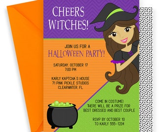 Witch Invitation, Halloween Invitation, Witch Party, Witch Birthday, Witch Birthday Invitation, Witch Invitations, Witch Invites | 71