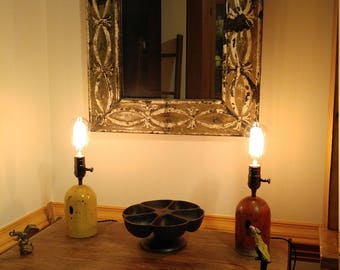 Industrial Gas Cylinder Cover Lamps PAIR  *** FREE SHIPPING ***