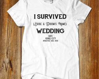 Fun wedding etsy i survived wedding shirts affordable wedding favors great wedding ideas fun wedding favors junglespirit Image collections