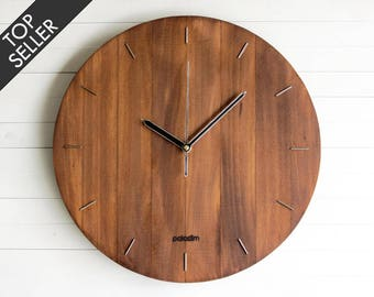 Wall Clock, Steampunk Wall Clock, Modern Clock, Wooden Wall Clock, Living  Room Part 93