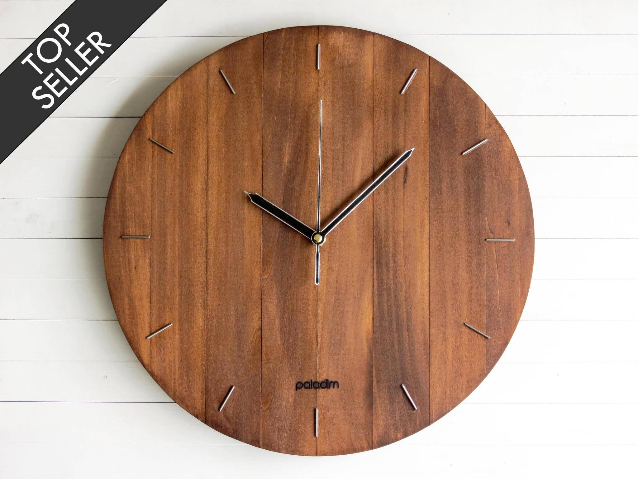 Designer Wall Clocks Online: Wall Clock Steampunk Wall Clock Modern Clock Wooden Wall