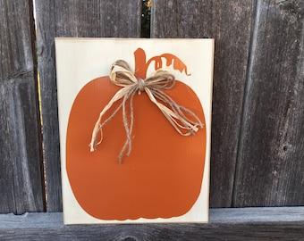 Fall pumpkin sign, Thanksgiving sign