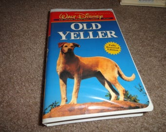 OLD YELLER Disney collectible vhs tape vintage vcr -vcr-vhs-tape-vhs tape- vcr tape- vcr machine- tape player--Disney-