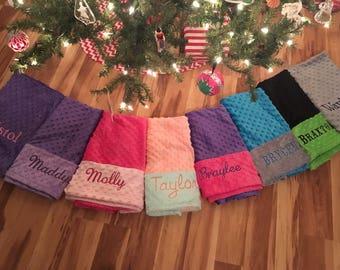 Monogrammed Minky Dot Standard Pillowcase - You Pick Color