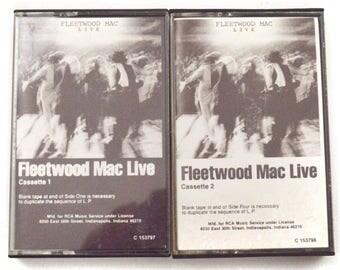 Vintage 80s Fleetwood Mac Live Double Album Club Edition Cassette Tape