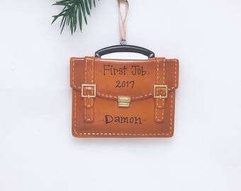 Briefcase Personalized Christmas Ornament / New Job Ornament / Lawyer / Banker / Business Owner / Boss