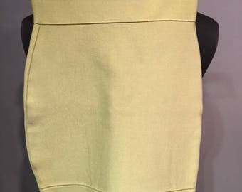 Herve Leger Lime Mini Skirt