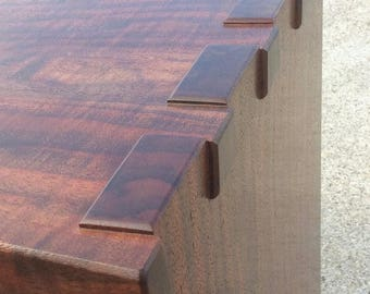 Gorgeous Claro Walnut Hand Cut Dovetail Coffee Table