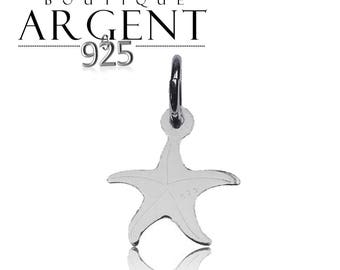 15.9 X 11.9 mm 925 Silver Pendant with starfish