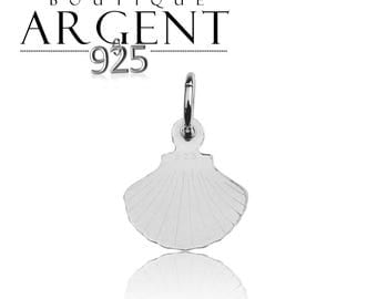 Shell shaped 15.3 X 11.7 mm 925 Silver Pendant