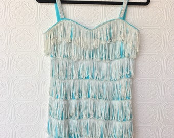 1960's Fringe Flapper Inspired Party Dress