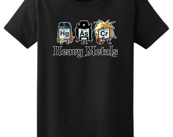 Funny Gift Heavy Metals Periodic Table Ladies T-Shirt 2000L - WRS-822