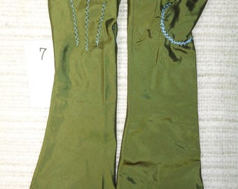 18th Century Size _7_ Ladies Colonial Silk Mitts  # 7.0.2