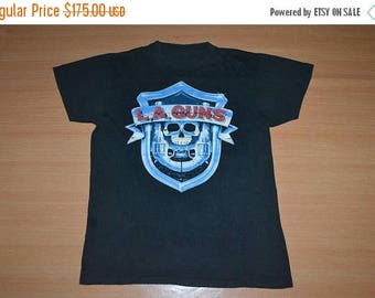 ON SALE 20% Vintage 1988 LA Guns  No Mercy Tour Concert promo 80s very rare Guns N Roses T-shirt