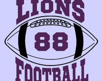 Lions Football - Add jersey number of your favorite player