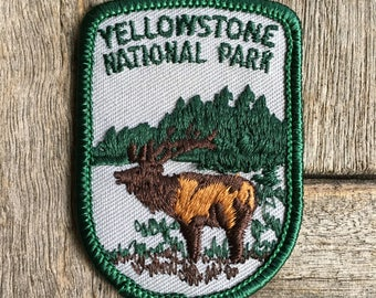 Yellowstone National Park Vintage Travel Patch by Voyager