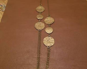 Antique brass chain necklace