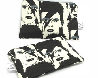 Mini zipper pouch Bowie black/white