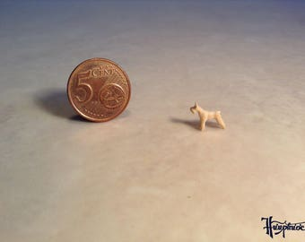 Wooden miniature Standard-schnauzer (Natural wood)