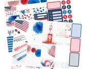 Big Happy Planner Stickers / Fourth of July Stickers / Planner Stickers / Summer Planner Stickers / Weekly Sticker Kit / Photo Kit / PHL5