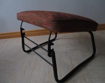 Vintage Restored Leg Lounger Adjustable Ottoman Hassock Footstool Padded  Upholstered