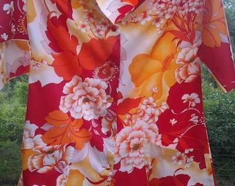Paradise Found Hawaiian Smock ~ Uniform Shirt ~ 1960's ~ Blouse ~ Tunic ~ Beach ~ Resort Wear ~ Hawaii ~ Penny Lane Treasures