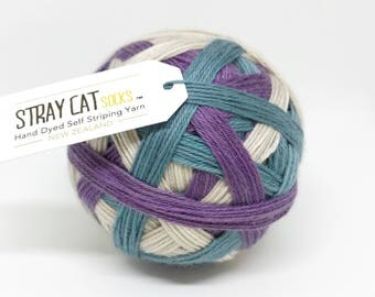 EMBRACE - hand dyed self striping sock yarn