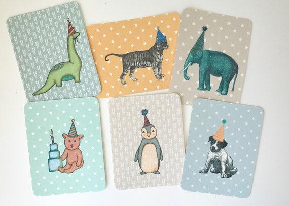 Assorted Boy Birthday Flat Cards/ Enclosures