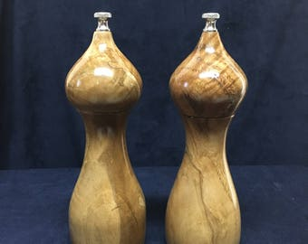 White Oak Salt and Pepper Mills Set