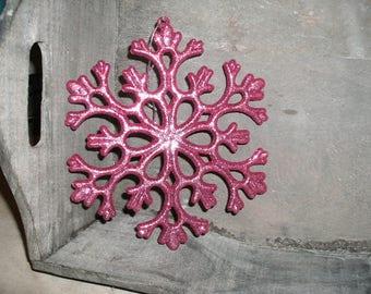 large snowflake, pink (278)