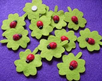 Lucky charms, felt, 12 pieces (110)