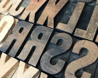 Pick Your Letters / Vintage Letterpress / Antique Letterpress / Printer Block Letter / Wood Type / Wood Letters / Vintage Type