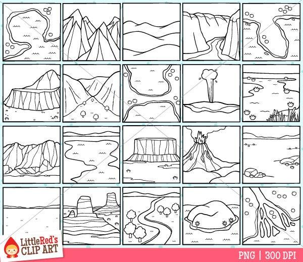 Landforms Clip Art fro...