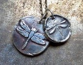 OUTLANDER Jewelry / Dragonfly Pendant / Fine Silver