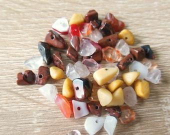 Set of 30 gemstone beads