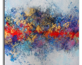 Abstract Painting straight from the artist's studio! / Artist Alex Senchenko / Canvas contemporary ART /  Free  Shipping  /  LOOKS AMAZING