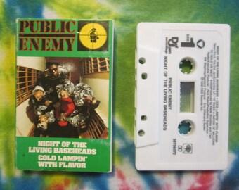 Public Enemy Night Of The Baseheads Cassette Tape Single Rap Hip Hop