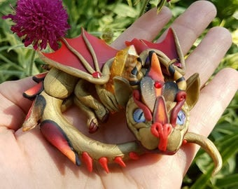 Red Gold Mini Baby Dragon