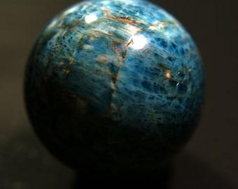 Gorgeous Blue Apatite Sphere