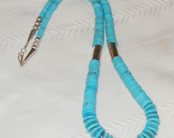 Native American Sleeping Beauty Turquoise Heisi Necklace