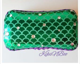 Mermaid Baby Wipes Travel Case - Diaper Wipes Travel Case - Wet Wipes Case - Diaper Bag Accessory - Mermaid Nursery - Baby Shower Gift