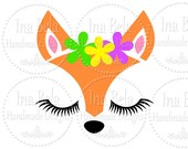 Fox SVG,svg Files for Cricut,svg Files,Silhouette Cut File,svg Scrapbooking,Paper Goods svg,Cut Vector File,Fox Design,svg Files for Cameo