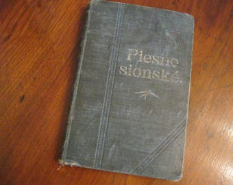 """Vintage Book Cover for Prayer Junk Journal, Vintage Book Titled """"Piesne sionshe"""", Music Book/Hymnal, Grungy Book, Junk Journal Supply"""