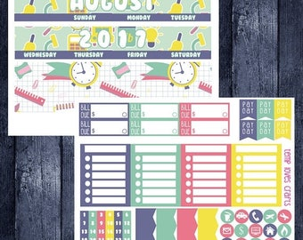 Weekend Sale August/September Back to School Monthly Stickers for HAPPY PLANNER