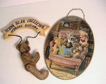 Teddy Bear, Teddy Bear Collector and Wall Hanging Set